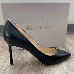 NWT Jimmy Choo Romy 85 pump Black Kid Leather